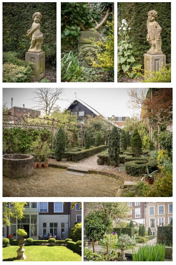 stijltuinen achter de Dunne Bierkade Den Haag